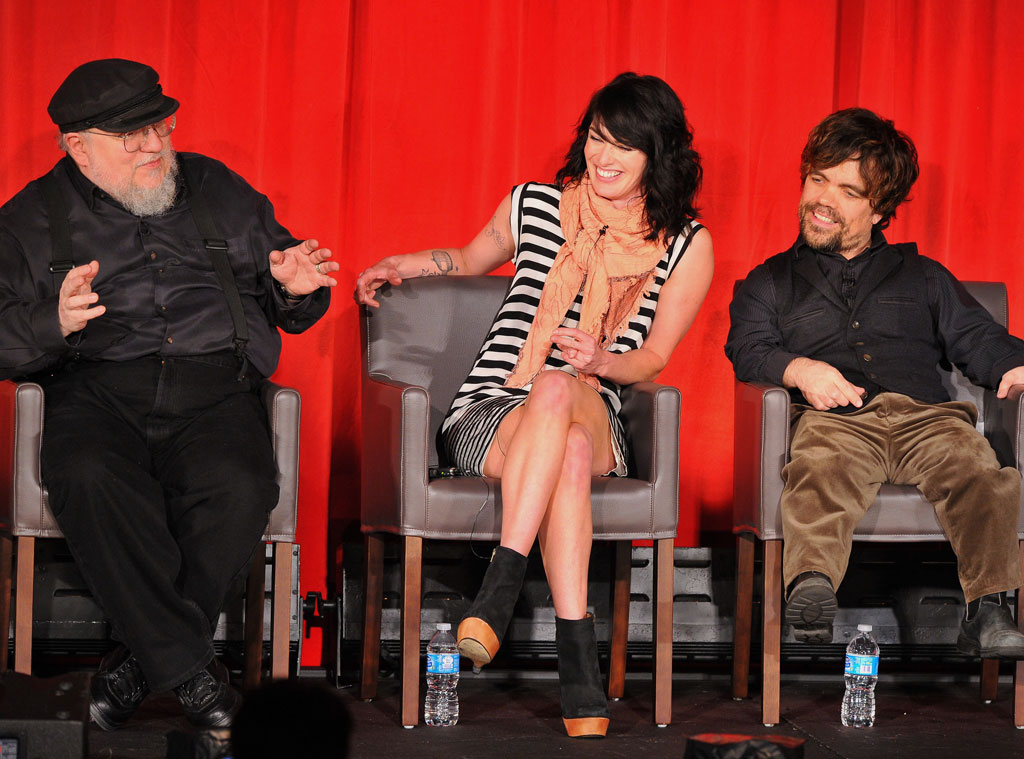 George R.R. Martin, Lena Heady, Peter Dinklage