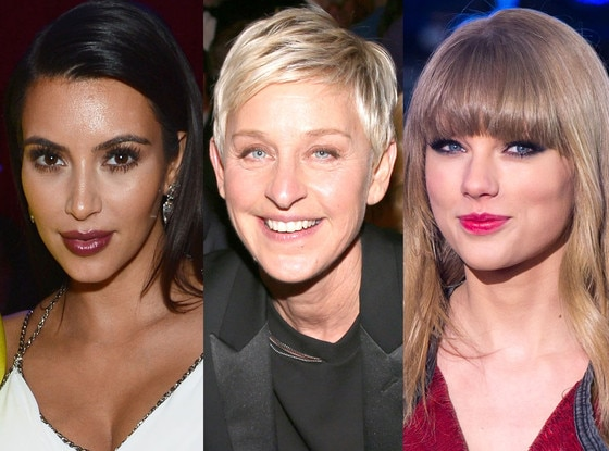 Kim Kardashian, Ellen Degeneres, Taylor Swift