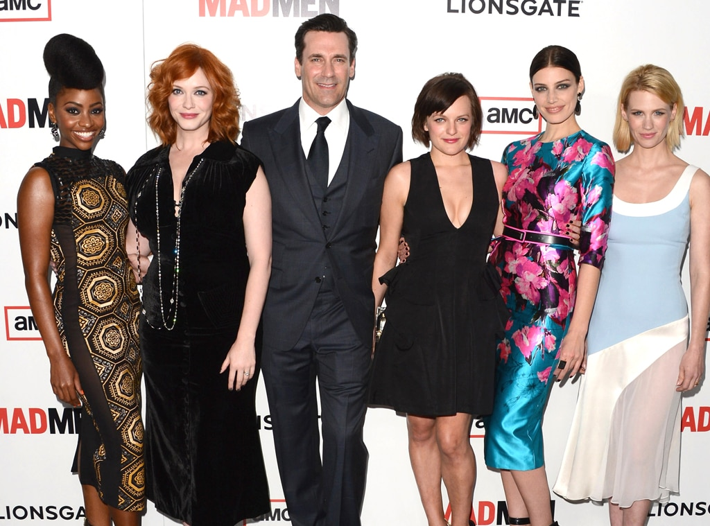 Teyonah Parris, Christina Hendricks, Jon Hamm, Elsabeth Moss, Jessica Pare and January Jones