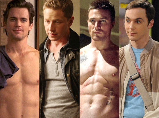 Stephen Amell, Arrow, Matt Bomer, White Collar Jim Parsons, Big Bang Theory, Josh Dallas, Once Upon a Time