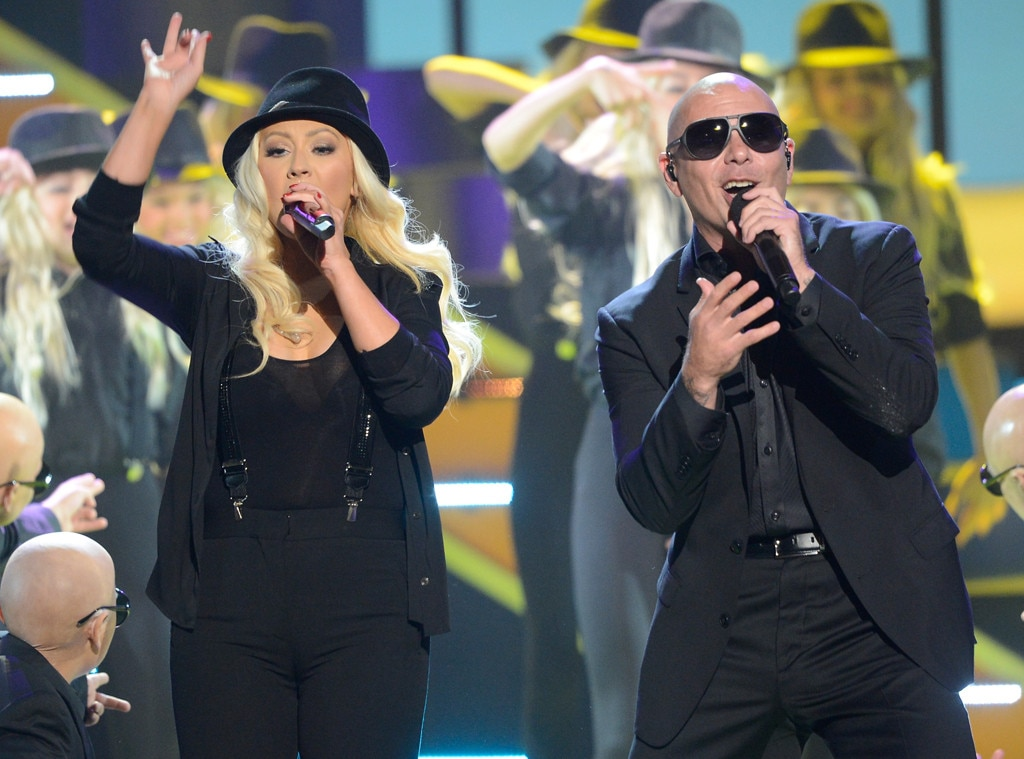 Christina Aguilera, Pitbull, Kids Choice Awards Show