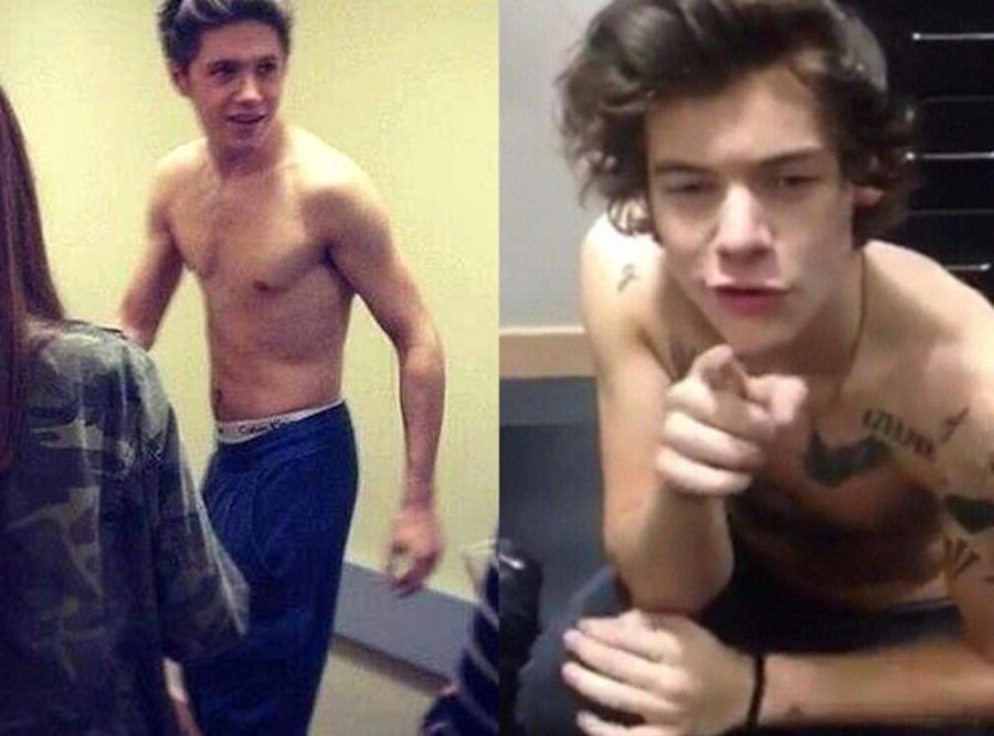 Harry Styles, Niall Horan, One Direction, Shirtless