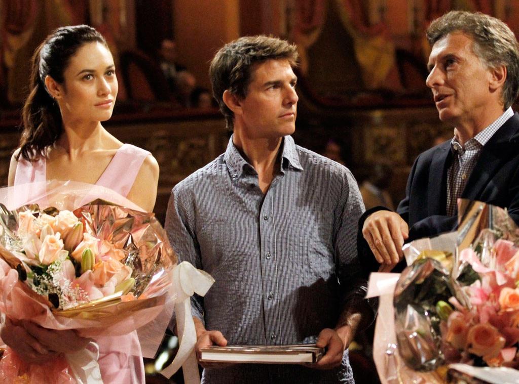 Tom Cruise, Olga Kurylenko, Mauricio Macri