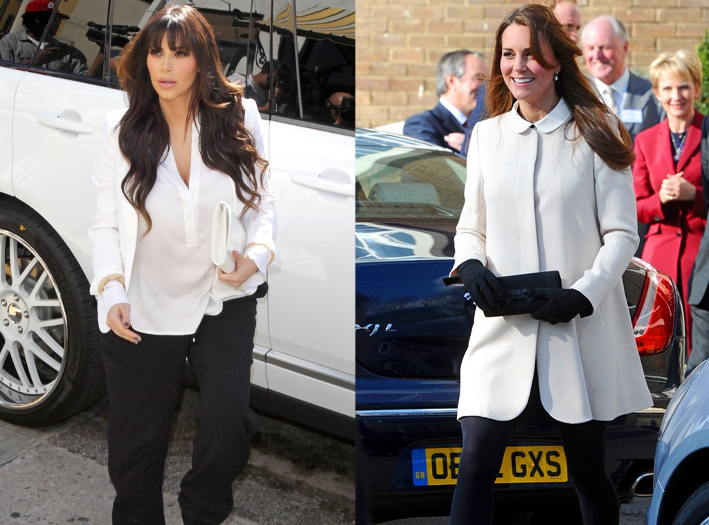 Kim Kardashian, Kate Middleton, Duchess Catherine, Black & White