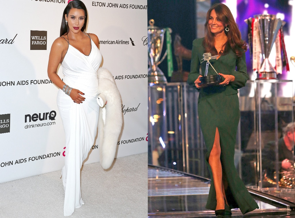 Kim Kardashian, Kate Middleton, Duchess Catherine, Red Carpet, Awards