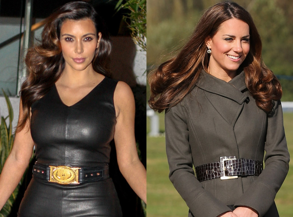 Kim Kardashian, Kate Middleton, Duchess Catherine, Belts