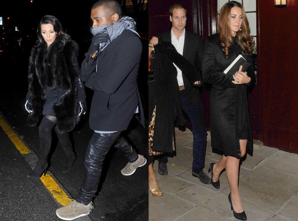 Kim Kardashian, Kate Middleton, Duchess Catherine, Date Night