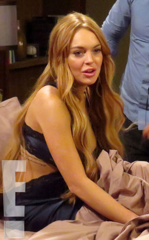 Lindsay Lohan, Charlie Sheen, Anger Management Set