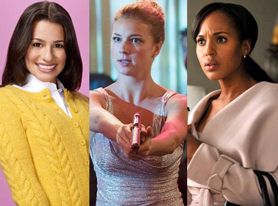Lea Michele, Glee, Kerry Washington, Scandal, Emily VanCamp, Revenge
