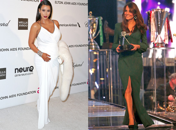 Kim Kardashian, Kate Middleton, Duchess Catherine, Red Carpet, Awards