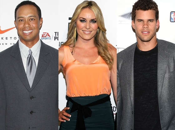 Tiger Woods, Lindsey Vonn, Kris Humphries