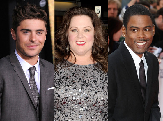 Zac Efron, Melissa McCarthy, Chris Rock