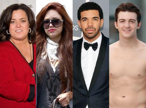 Rosie O'Donnell, Amanda Bynes, Drake, Drake Bell
