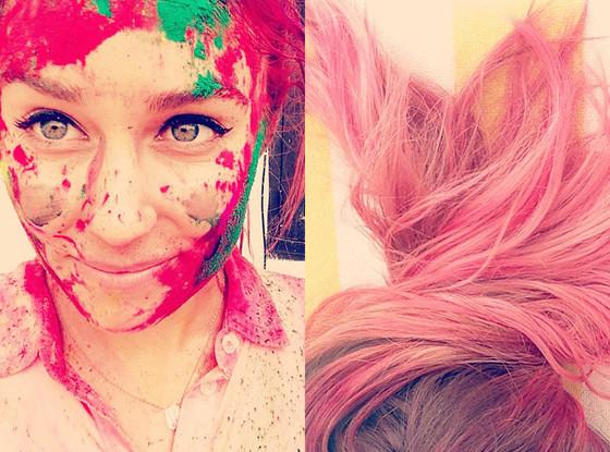 Lauren Conrad, Instagram, Pink Hair