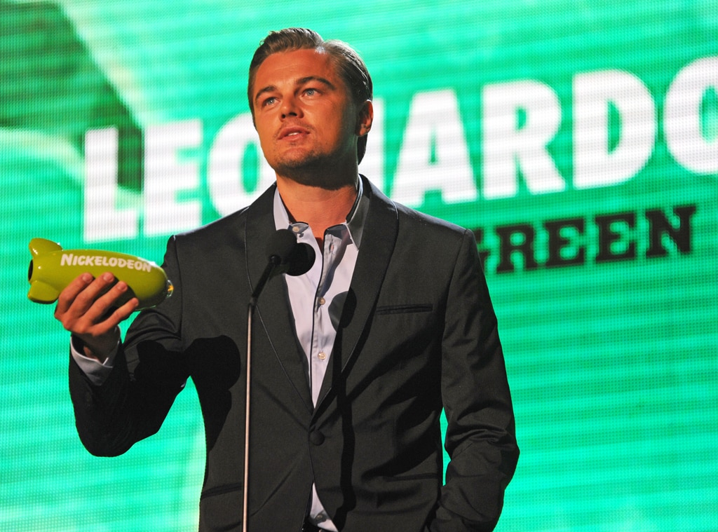 Leonardo DiCaprio, Big Green Help Award, Nickeldeons 22nd Annual Kids Choice Awards