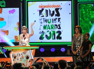 Taylor Swift, Big Help Award Acceptance, Nickelodeons 25th Annual Kids' Choice Awards, Michelle Obama