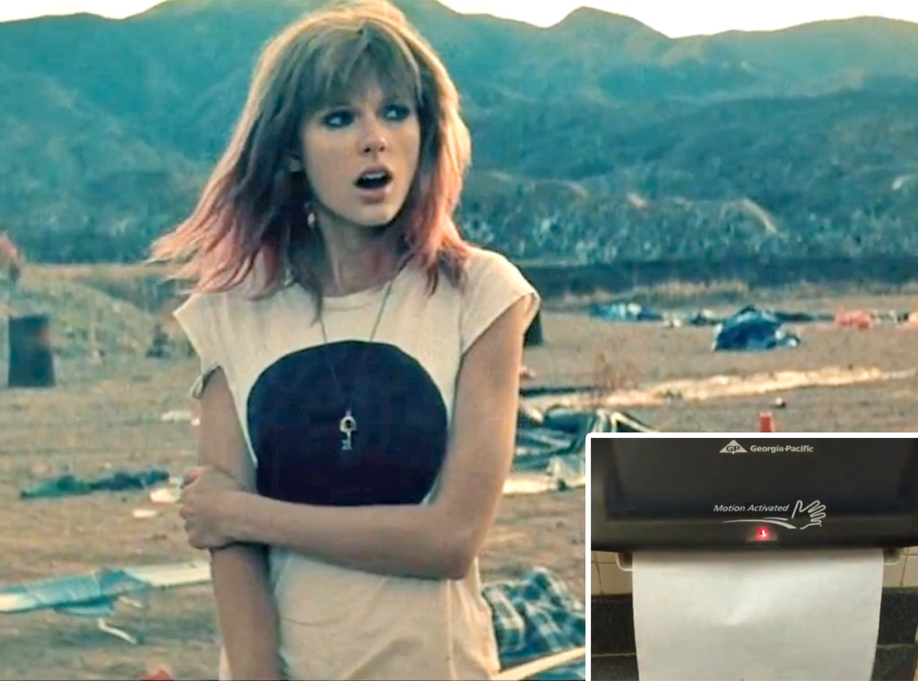 Taylor Swift, Trouble Video, Towel Dispenser
