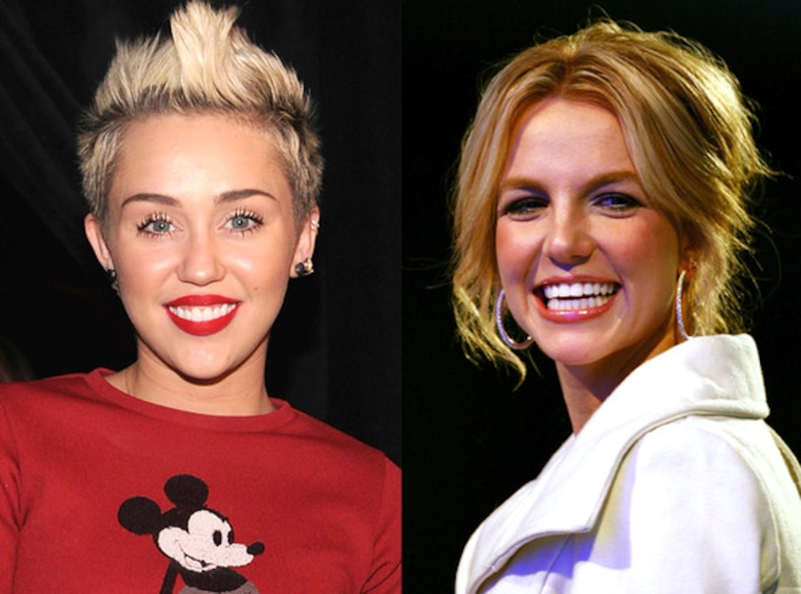 Britney Spears, Miley Cyrus