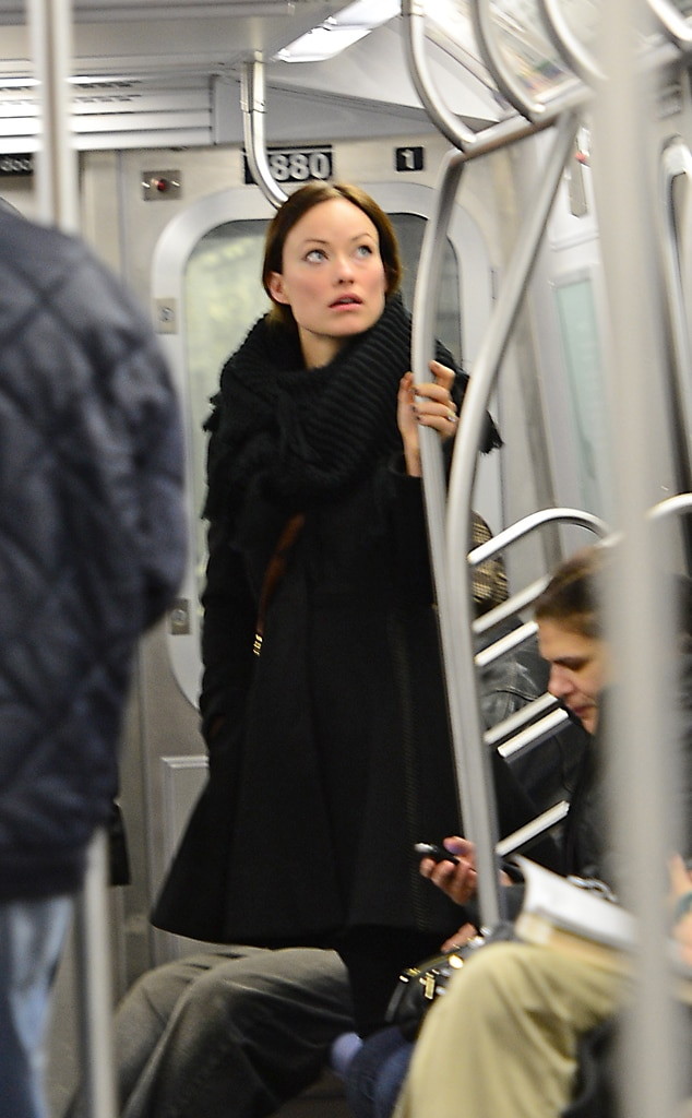 Olivia Wilde, On Subway