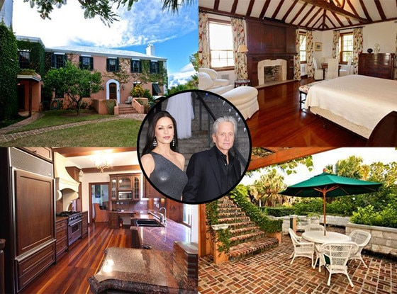 Catherine Zeta Jones, Michael Douglas, Bermuda House