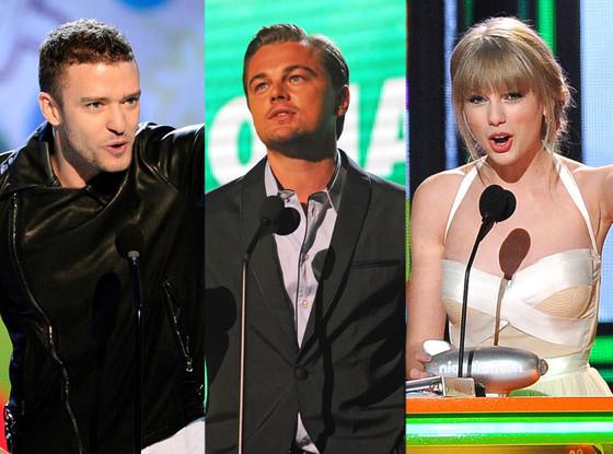 Big Help Award, Justin Timberlake, Leonardo DiCaprio, Taylor Swift