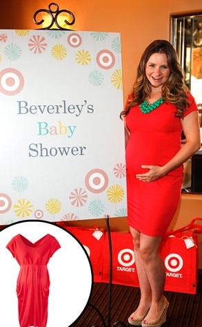 Beverley Mitchell, Liz Lange for Target maternity dress
