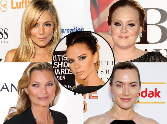 Kate Moss, Adele, Sienna Miller, Kate Winslet, Victoria Beckham