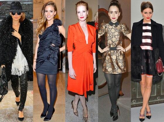 Nicole Richie, Jessica Alba, Jessica Chastain, Lily Collins, Olivia Palermo