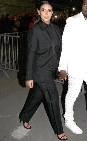Kim Kardashian, Paris, PantsSuit