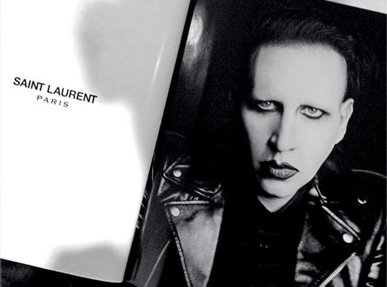 Marilyn Manson, Saint Laurent Ad, Instagram