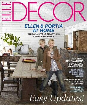 Elle Decor, Ellen DeGeneres, Portia de Rossi, Cover