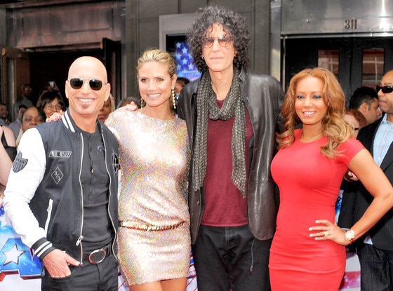 Howie Mandel, Heidi Klum, Howard Stern and Mel B