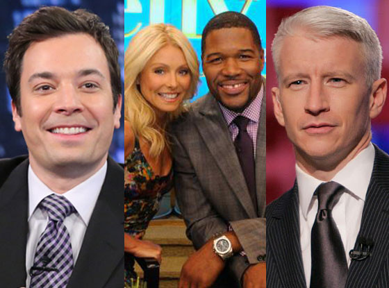 Anderson Cooper, Kelly Ripa, Michael Strahan, Jimmy Fallon