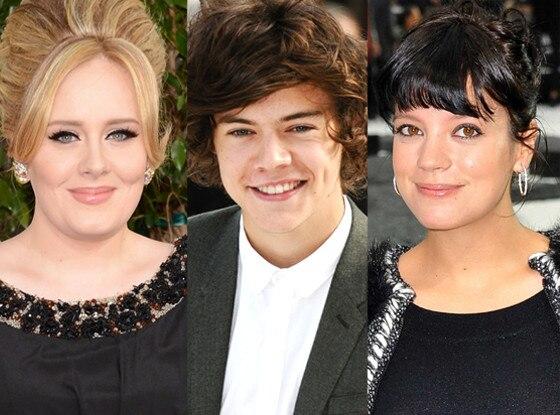Adele, Harry Styles, Lily Allen