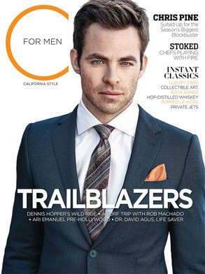 Chris Pine, C for Men