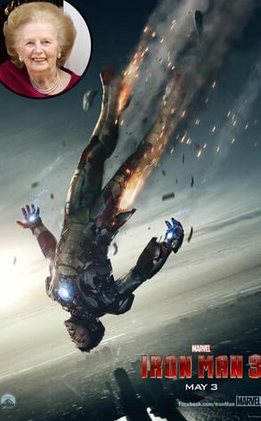 Iron Man 3 Poster, Margaret Thatcher