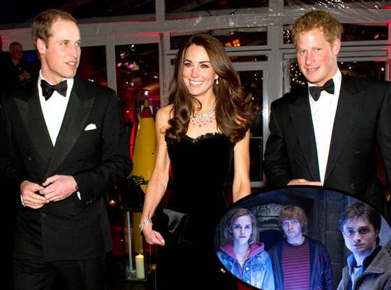Harry Potter, William, Duke of Cambridge, Catherine, Duchess of Cambridge, Prince Harry, Kate Middleton