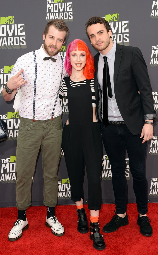 Jeremy Davis, Hayley Williams, Taylor York, Paramore , MTV Movie Awards