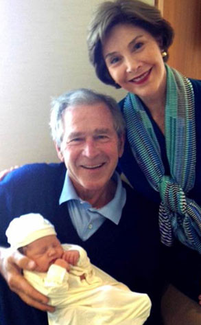 George Bush, Laura Bush, Jenna Bush