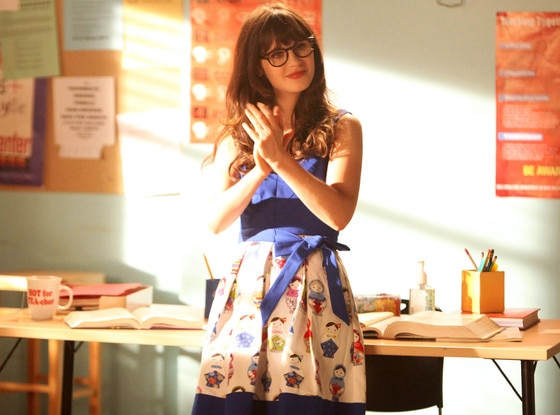 Zooey Deschanel, New Girl, Onscreen Teachers