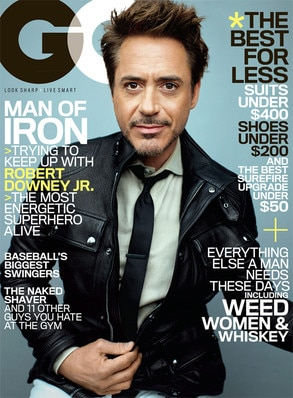 Robert Downey Jr, GQ Cover