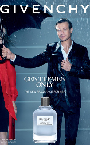 Simon Baker, Givenchy Gentlemen Only Ad