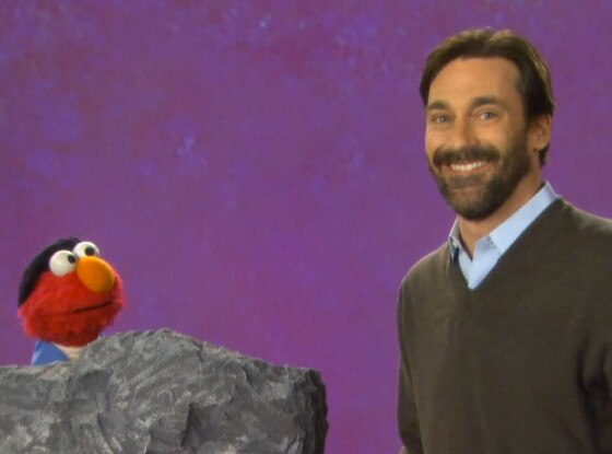 Jon Hamm, Elmo, Sesame Street