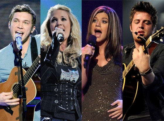 American Idol Alumni, Phillip Phillips, Carrie Underwood, Kelly Clarkson, Lee DeWyze