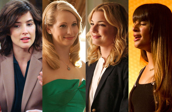 Lea Michele, Glee, Emily Van Camp, Revenge, Candice Accola, The Vampire Diaries, Cobie Smulders, How I Met Your Mother