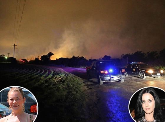 Texas Explosion, Katy Perry, Leann Rimes