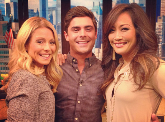 Zac Efron, Kelly Ripa, Carrie Ann Inaba