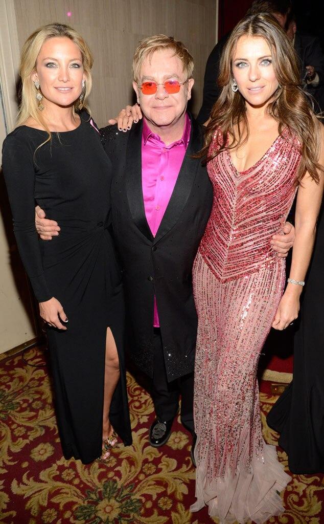 Kate Hudson, Elton John, Elizabeth Hurley