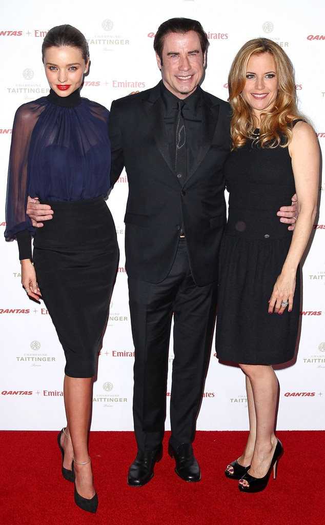 Miranda Kerr, John Travolta, Kelly Preston
