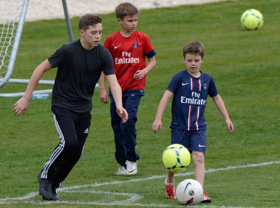 Brooklyn Beckham, Romeo Beckham, Cruz Beckham